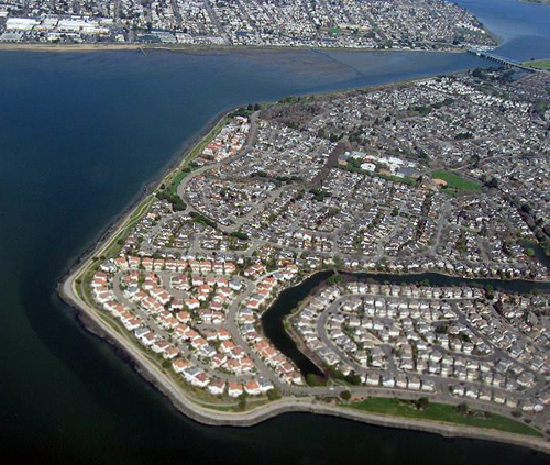 Alameda City: Bay Farm Island, San Leandro Channel, Alameda Island