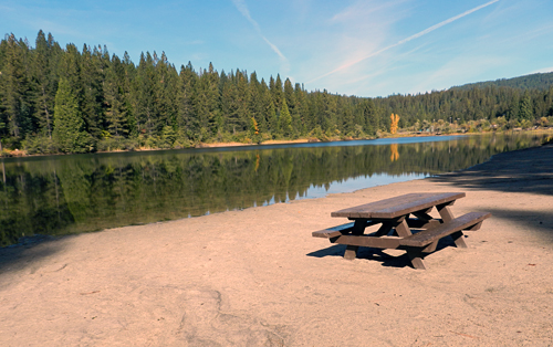 Arnold: White Pines Lake Picnic Table