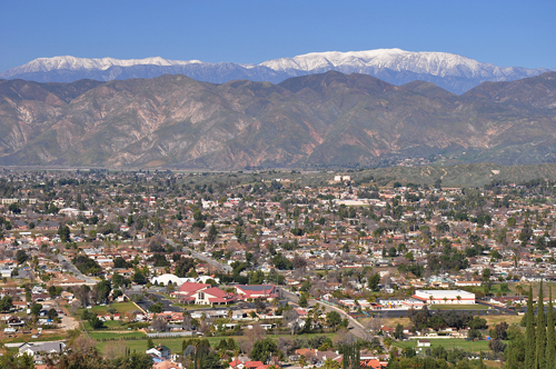 Hemet and Mountains
