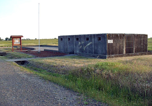 Historic German POW Cell Block at Beale AFB