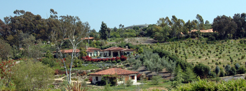 Rancho Santa Fe in San Diego County