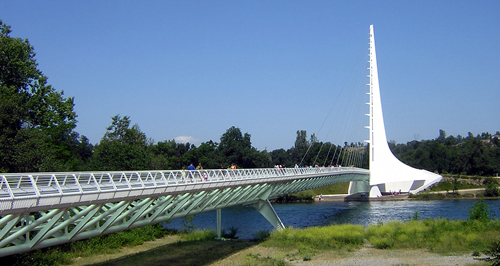 Sundial Bridge at Turtle Bay in Redding